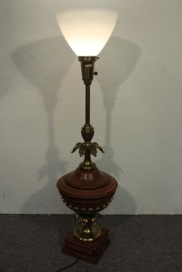 Vintage Colonial Style Pineapple Electric Table Lamp ...