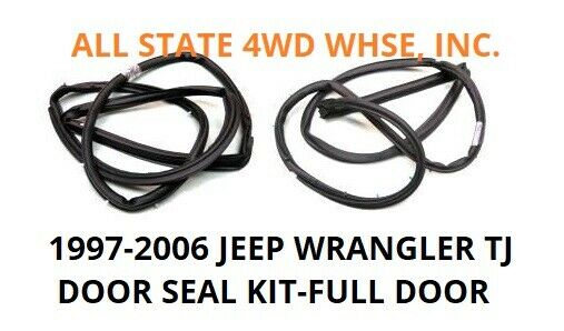 LEFT & RIGHT SEALS JEEP PARTS 1997-2006 WRANGLER TJ DOOR
