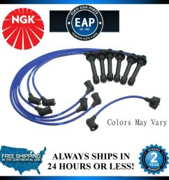 details about for 1998 2000 accord 1997 1999 cl 3 0l v6 ngk ignition spark plug wire set new [ 1000 x 995 Pixel ]