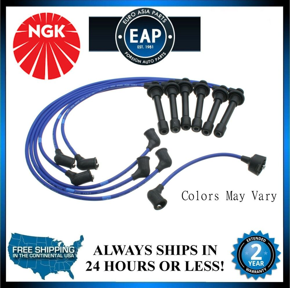 hight resolution of details about for 1998 2000 accord 1997 1999 cl 3 0l v6 ngk ignition spark plug wire set new