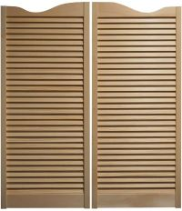 "PINE CAFE DOORS Louvered Western Swinging Saloon 30"" 32 ..."