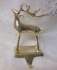 Silver Plated Christmas Mantel Hook Stocking Holder