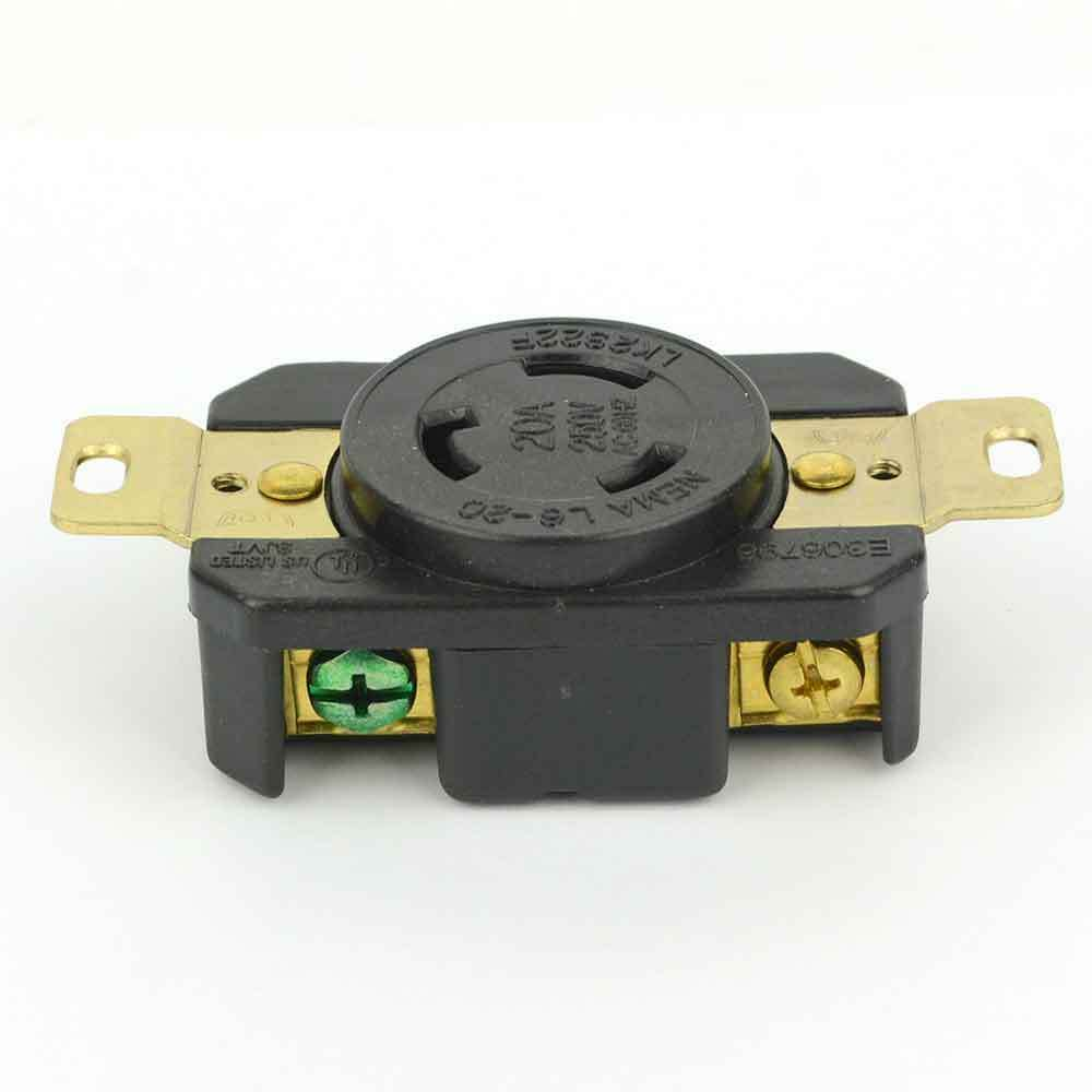 hight resolution of details about twist lock wall mount electrical receptacle 3 wire 20a 250v nema l6 20r ygp023f