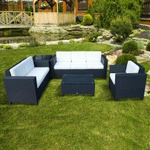 Black Outdoor Wicker Patio Furniture