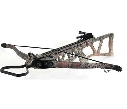 PRO 180 lb Draw CAMO Hunt Large Game Hunting Crossbow