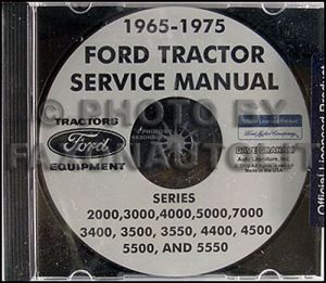 Ford Tractor 20007000 Shop Manual CD 1965 1966 1967 1968