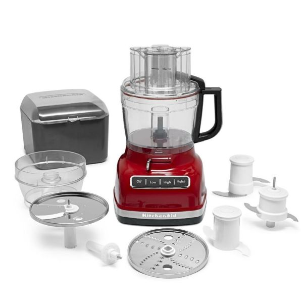Kitchenaid Kfp1133er 11-cup Food Processor Exact Slice System Dicing Empire Red