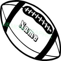 Personalized Name Football vinyl decal/sticker sports ...