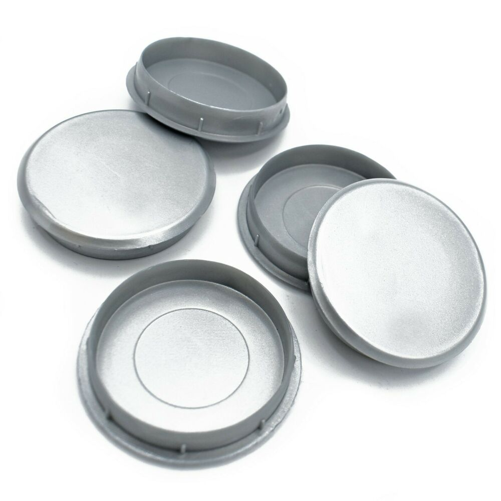35mm SILVER NICKEL PLASTIC HINGE HOLE COVER CAPS KITCHEN