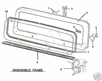 FRONT WINDSHIELD GLASS 1987-1995 87-95 JEEP WRANGLER YJ