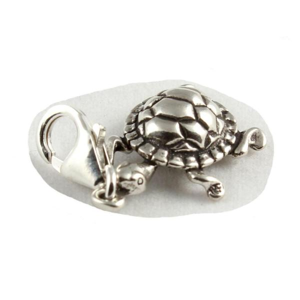 Turtle 925 Sterling Silver Clip Charms - With 11mm