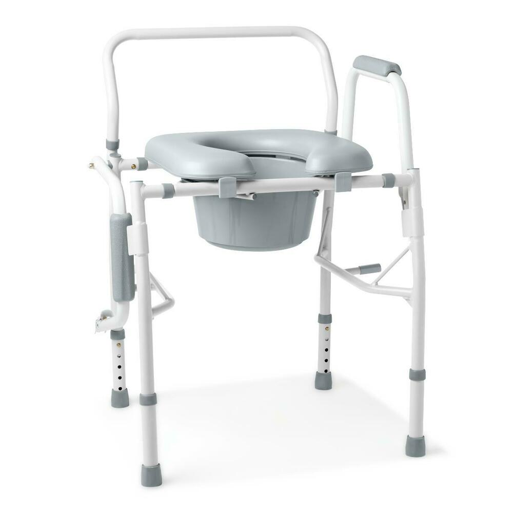 New Guardian Padded Drop Arm Commode Seat Chair G98204