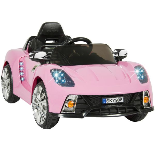 12v Ride Car Kids With Mp3 Electric Battery Power Remote Control Rc Pink
