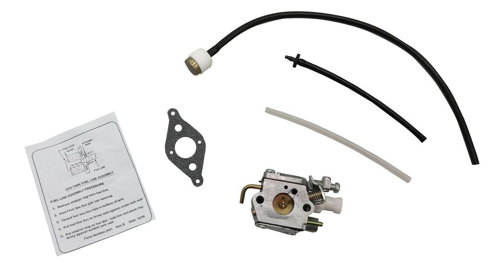 MTD Troy-Bilt Ryobi Gas Trimmer Carburetor, Fuel Line