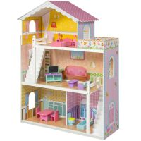 Large Children's Wooden Dollhouse Fits Barbie Doll House ...