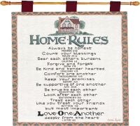 Home Rules Family Tapestry Wall Hanging | eBay