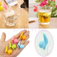 5pcs Snail Shape Silicone Tea Bag Holder Cup Mug Candy
