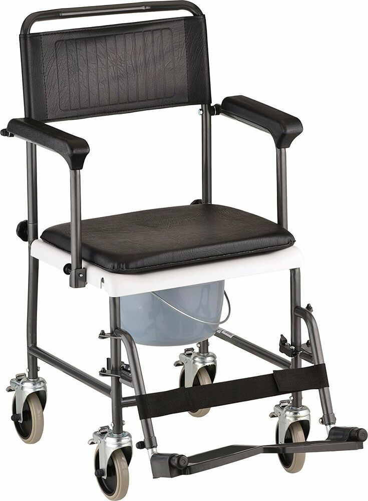 transport wheelchair nova lime dining chairs 8805 drop arm shower chair commode | ebay