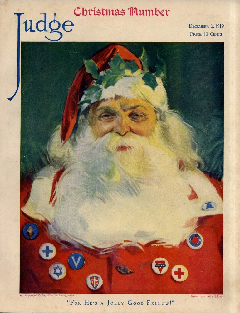 SANTA CLAUS FOR HES A JOLLY GOOD FELLOW YMCA RED CROSS