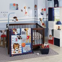 Lambs & Ivy Future All Star 5 Piece Baby Crib Bedding Set