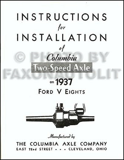 1937 1938 1939 Ford Columbia Overdrive Axle Manual Set