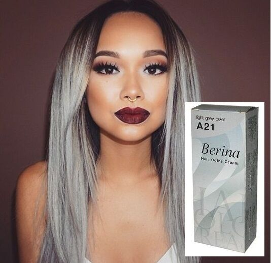Berina Hair COLOR Grey Permanent Fashion Blue Green Violet