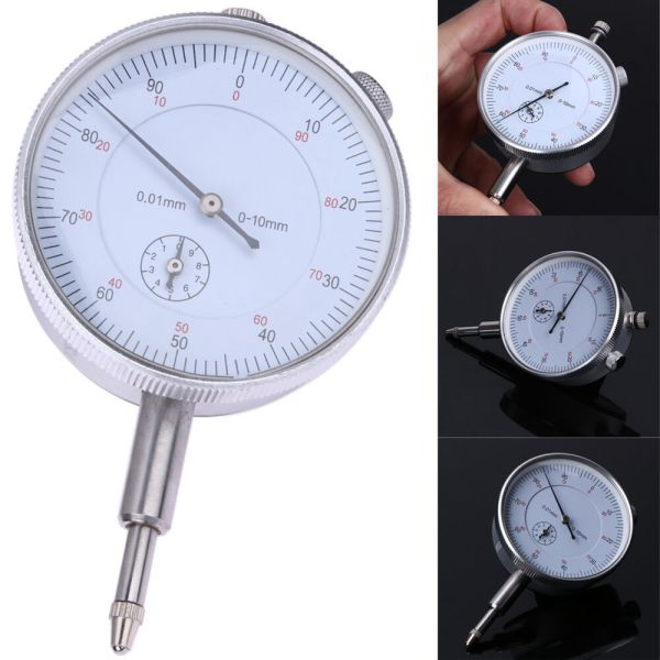 Dial Gauge Indicator Precision Metric 0.01mm Accuracy Measurement Instrument