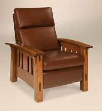 Amish Mission Arts and Crafts Recliner Chair McCoy Solid ...