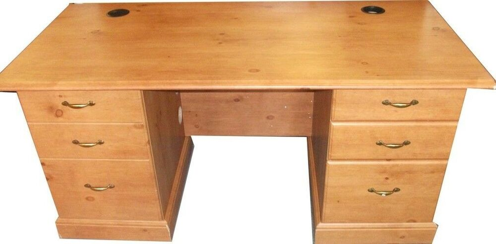 Antique Pine Colour French Gardens Desk with 2 drawers and