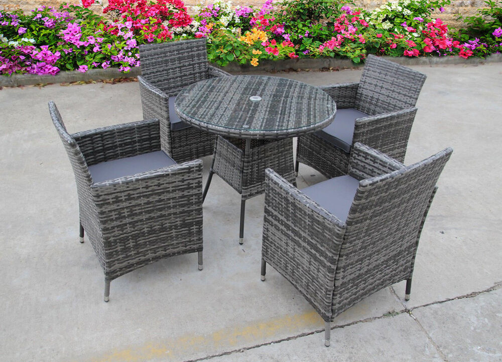 NEW BISTRO 2-4-6 SEATER RATTAN WICKER DINING OUTDOOR
