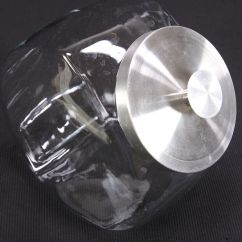 Kitchen Storage Canisters Hoods Country Store Style Cookie Or Candy Jar Clear Glass ...