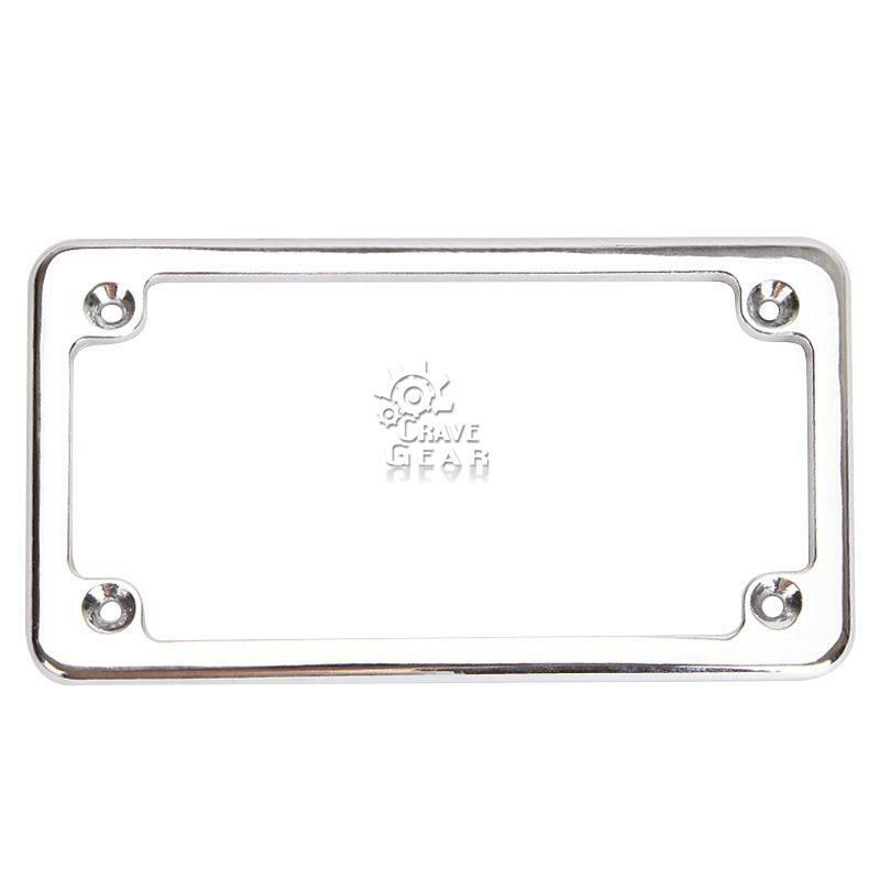 Deluxe Metal Chrome Motorcycle License Tag Plate Frame