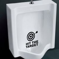 Funny Hit the Target Toilet Seat Vinyl Decals Removable ...