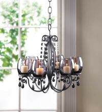 BLACK hanging chandelier CANDELABRA Candle holder Wedding ...