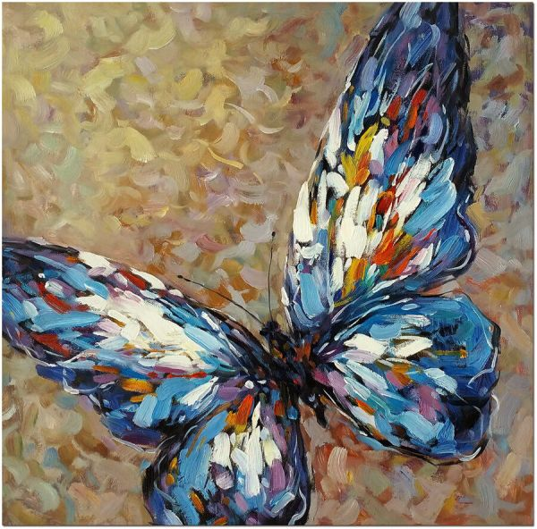 Abstract Butterfly Oil Painting