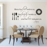 Kitchen Wall Decal Thanksgiving Bless the Food Family Love ...