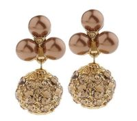 Isaac Mizrahi Live! Sparkling Pave Simulated Pearl Clip On ...