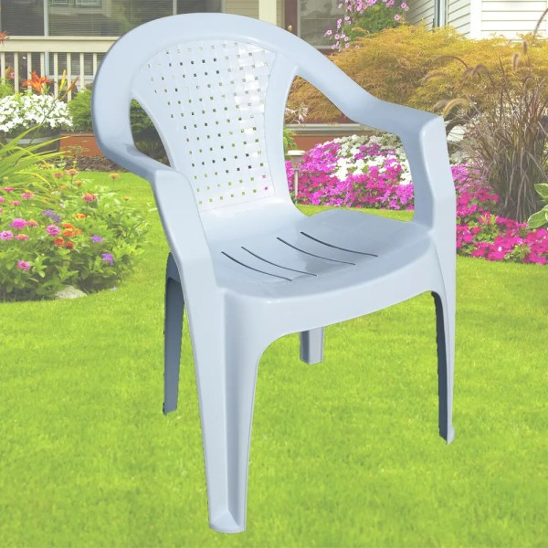 plastic patio furniture Garden Plastic Chair White Stackable Chair Patio Outdoor