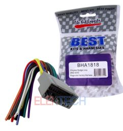 details about bha1818 aftermarket radio replacement wire harness for chrysler dodge jeep [ 1000 x 1000 Pixel ]