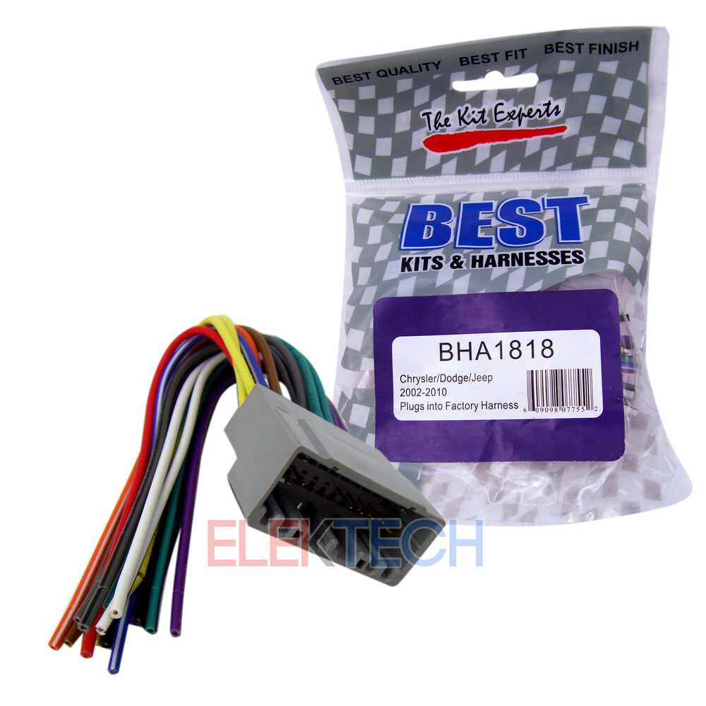 hight resolution of details about bha1818 aftermarket radio replacement wire harness for chrysler dodge jeep