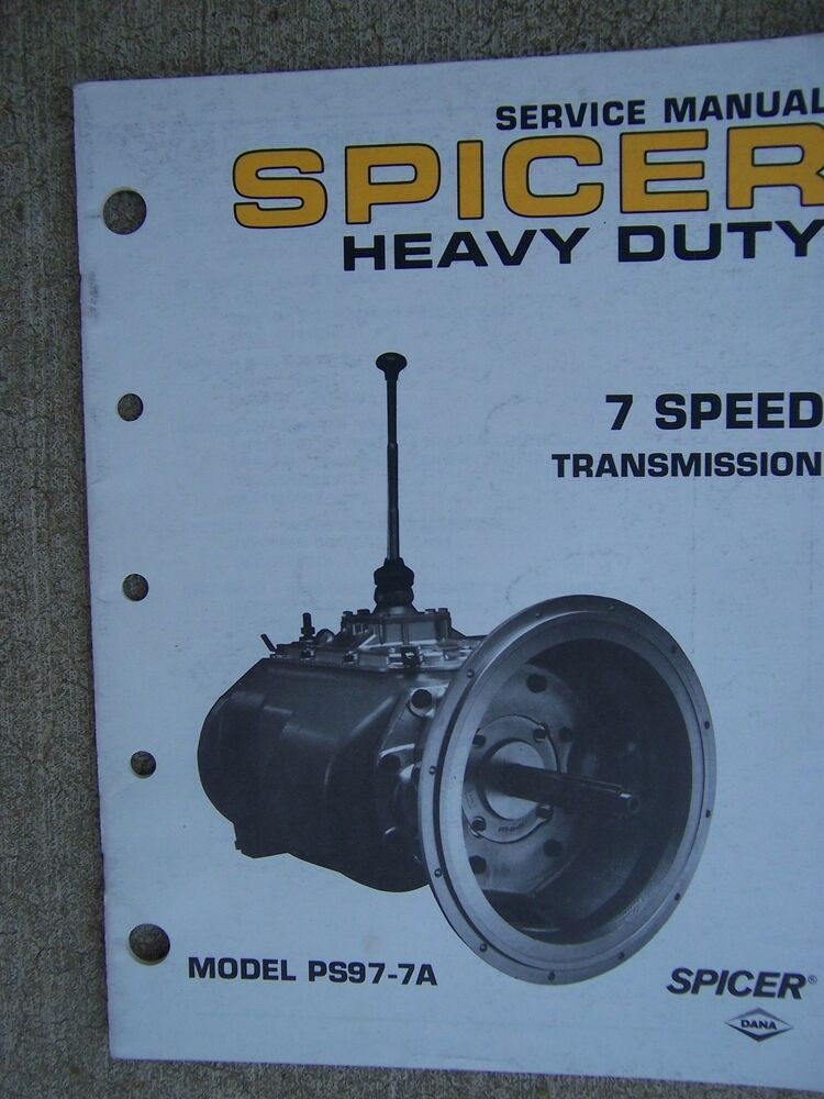1989 Spicer Heavy Duty 7 Speed Transmission Model Ps977a