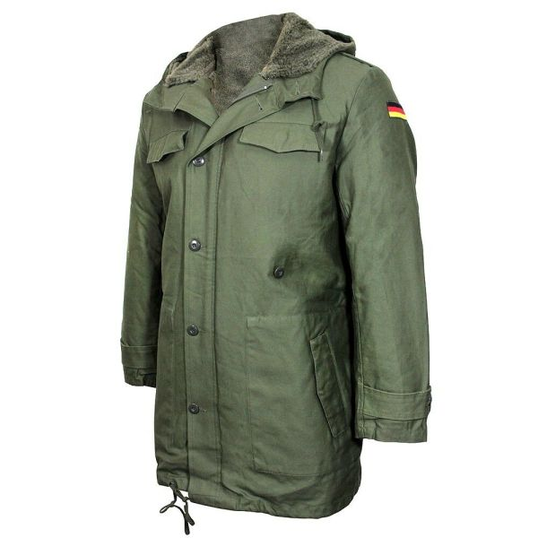 Repro German Army Parka With Removable Liner - Olive Green