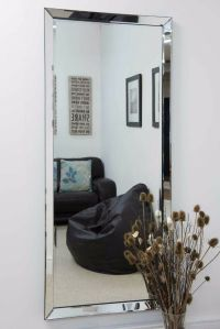 Large Modern Frameless Wall mounted Mirror Rectangle 5Ft10 ...