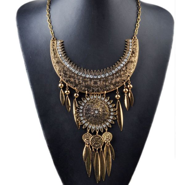 Tribal Collar Bib Necklace