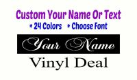CUSTOM VINYL TEXT LETTERING Tablet Personalized Wall