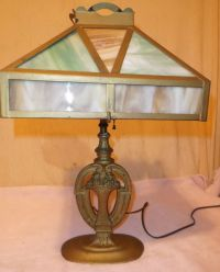 Vintage/Antique Stained/Slag Glass Table Lamp 1930's/1940