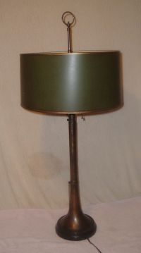 Vintage Frederick Cooper Tall Brass Herald Trumpet Lamp ...