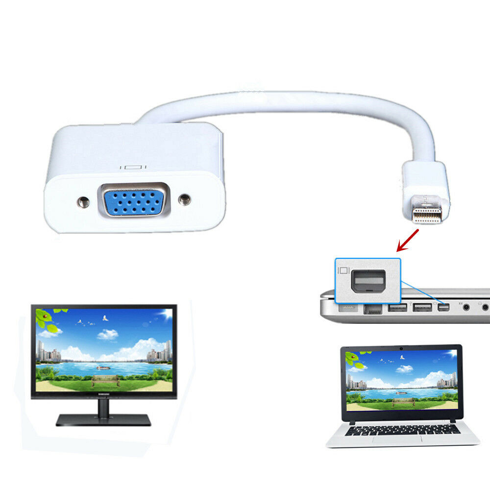 VGA Video Converter Adapter Cable for Apple Macbook Pro Air iMac to TV projector   eBay