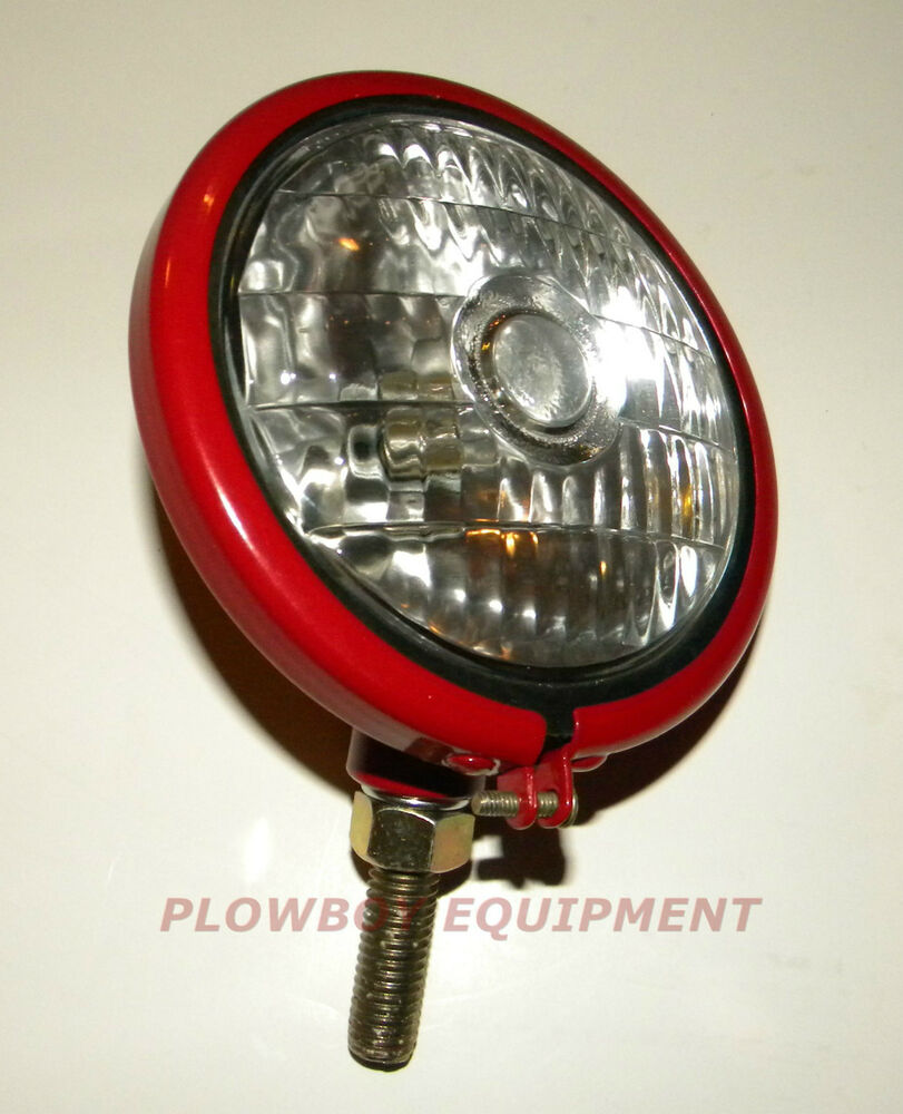 medium resolution of 6 v headlight for farmall cub super a c h m 100 130 200 farmall m with belt pulley farmall super m pulling tractor
