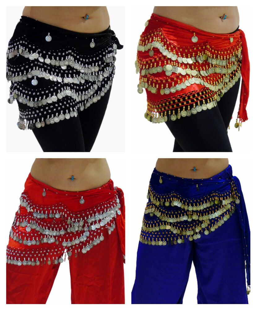PLUS SIZE Belly Dance Hip Wrap Scarf Skirt Belt Dancing ...